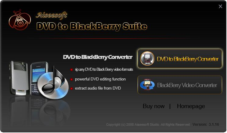 Aiseesoft DVD to BlackBerry Suite Download