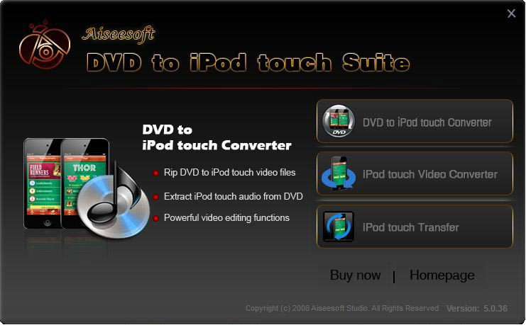 Aiseesoft DVD to iPod touch Suite Download