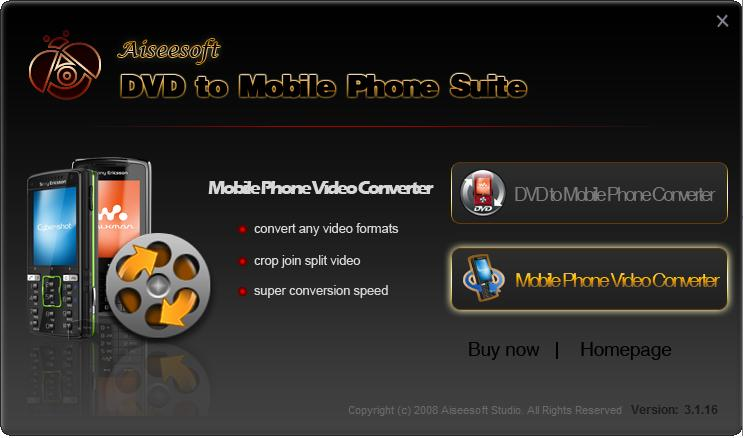 Aiseesoft DVD to Mobile Phone Suite Download