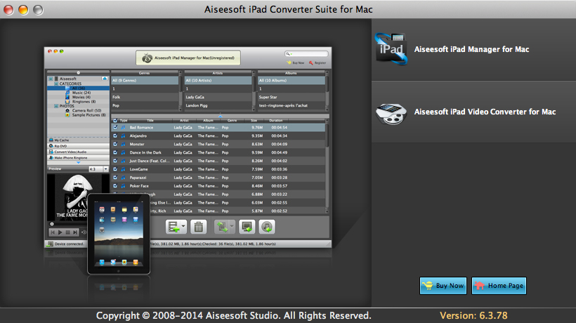 Aiseesoft iPad Converter Suite for Mac Download