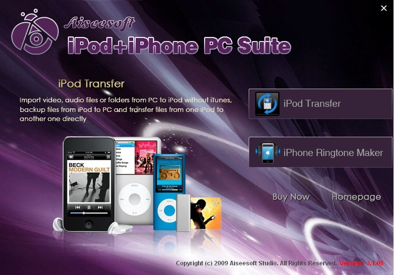 Aiseesoft iPod + iPhone PC Suite Download