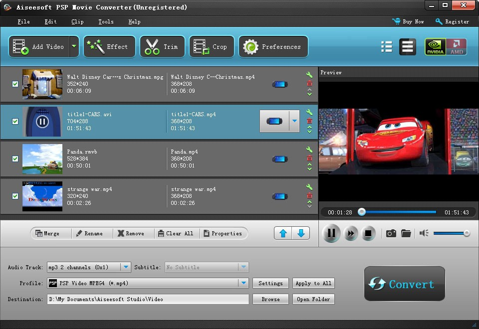 Aiseesoft PSP Movie Converter Download