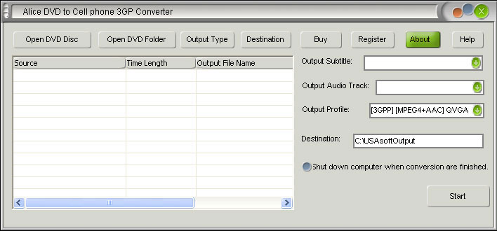 Alice DVD to Cell Phone Converter Download