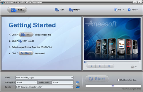 Aneesoft Free Nokia Video Converter Download