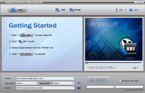 Aneesoft Free WMV Video Converter Download