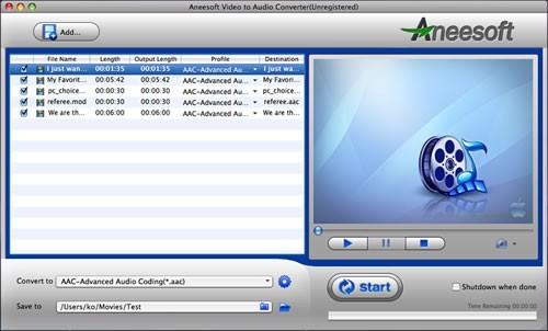 Aneesoft Video to Audio Converter for Mac Download