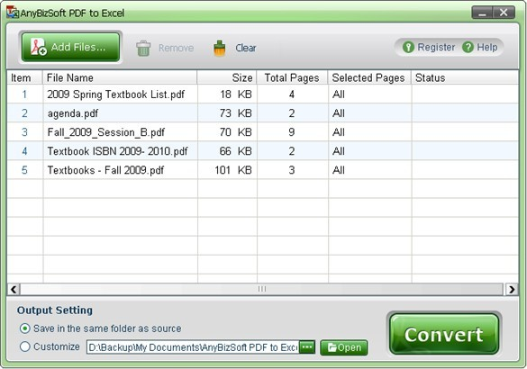 AnyBizSoft PDF to Excel Converter Download