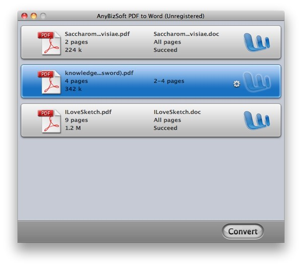 AnyBizSoft PDF to Word for Mac Download
