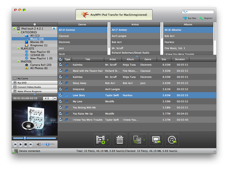 AnyMP4 iPod Transfer for Mac Download