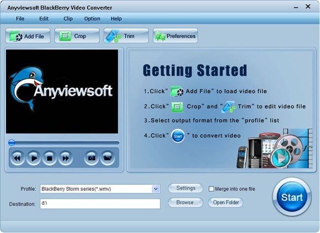 Anyviewsoft BlackBerry Video Converter Download