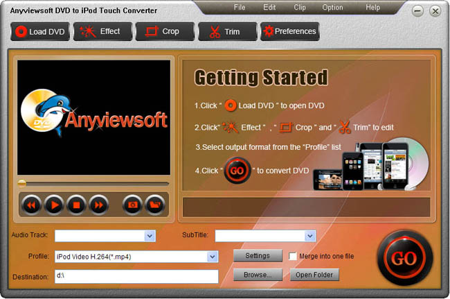 Anyviewsoft DVD to iPod Touch Converter Download
