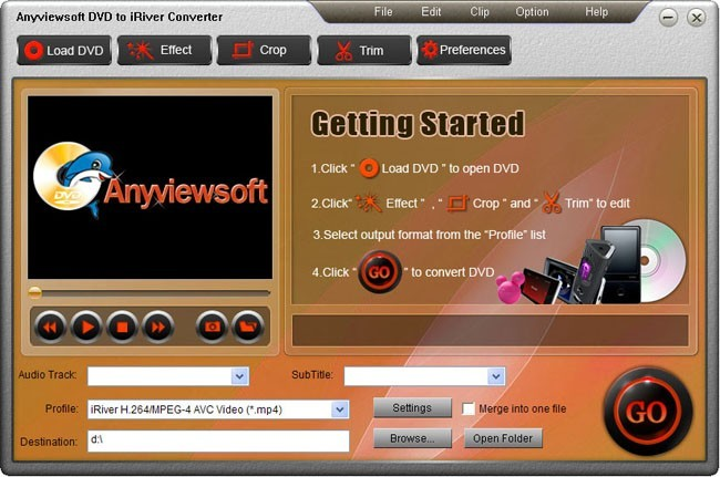 Anyviewsoft DVD to iRiver Converter Download