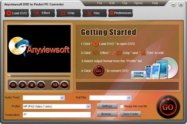 Anyviewsoft DVD to Pocket PC Converter Download