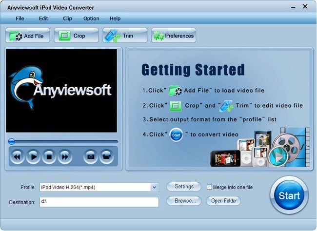Anyviewsoft iPod Video Converter Download