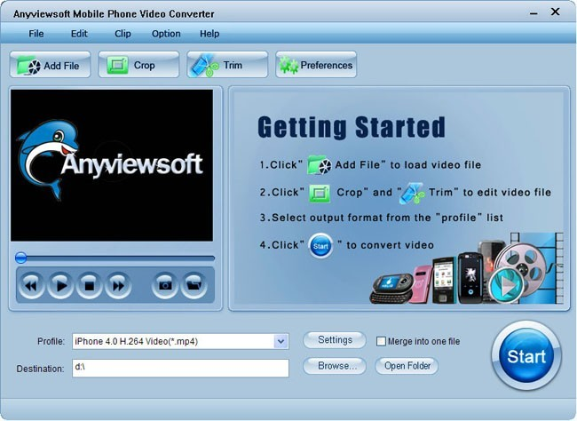 Anyviewsoft Mobile Phone Video Converter Download