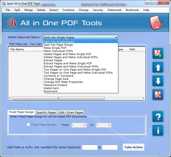 Apex PDF Splitter Program Download
