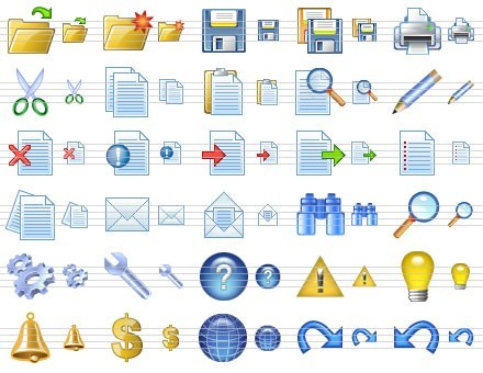 Application Toolbar Icons Download