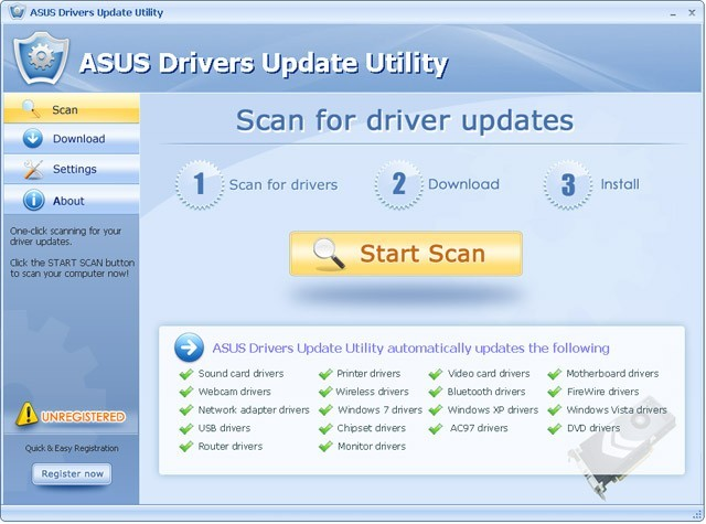 ASUS Drivers Update Utility For Windows 7 Download