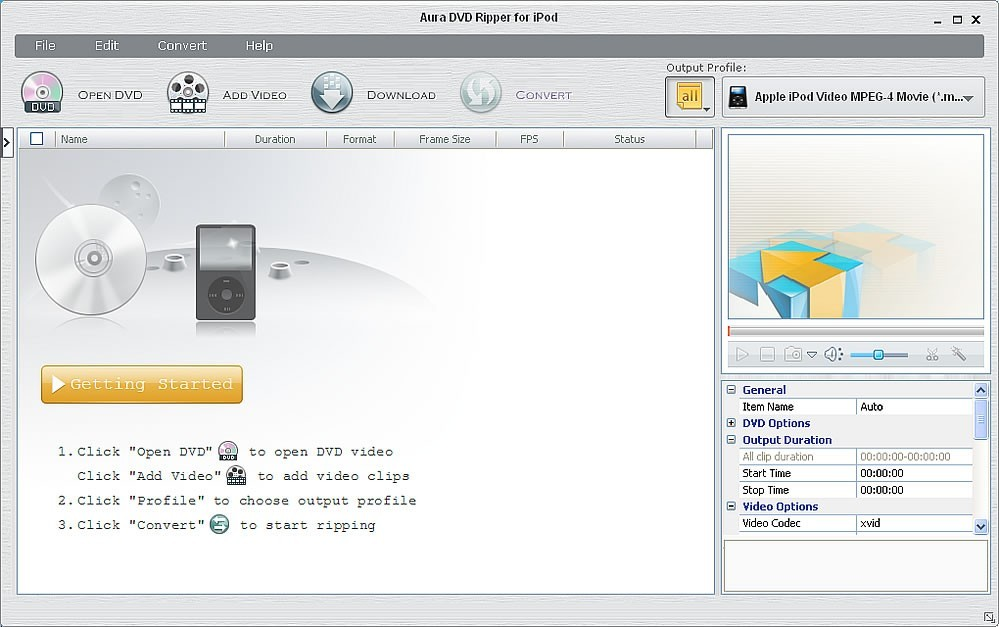 Aura DVD Ripper for iPod Download