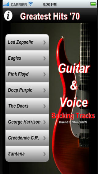 Backing Tracks Guitar & Voice - Greatest Hits '70 Download