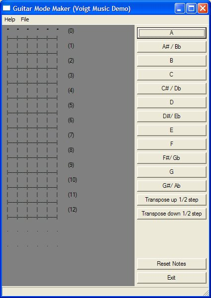 Bass Guitar Mode and Scale Creator, create and modify chords and scales.