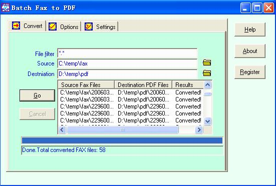 Batch Fax to PDF Download