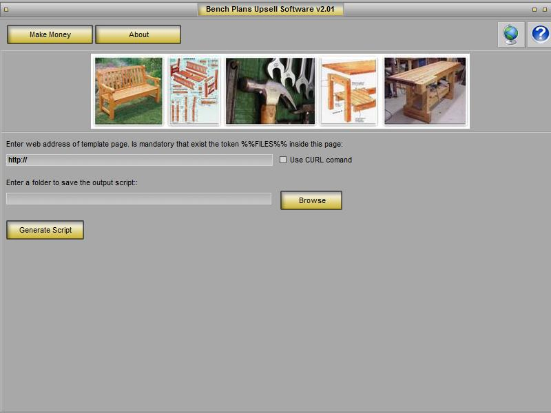 Bench Plans Upsell Page Maker Download