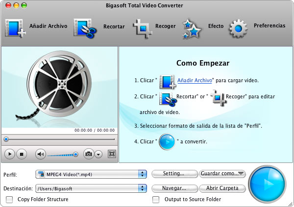 Bigasoft Total Video Converter para Mac Download