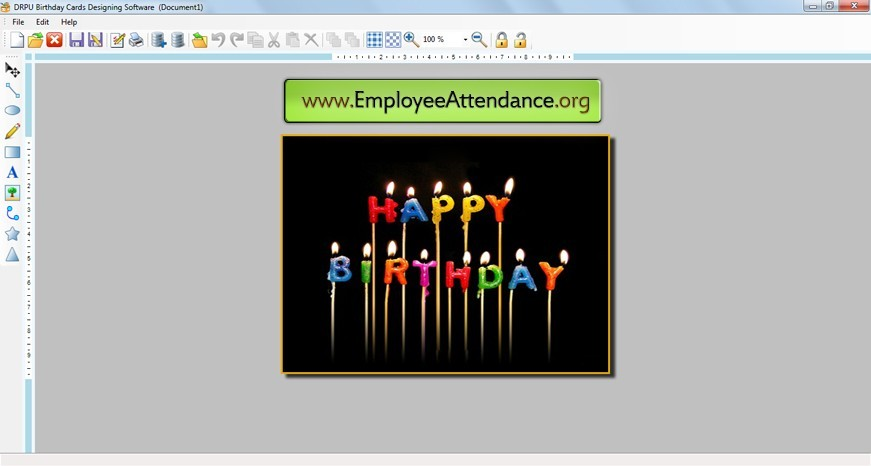 Screenshot review downloads of shareware birthday print for Print out business cards