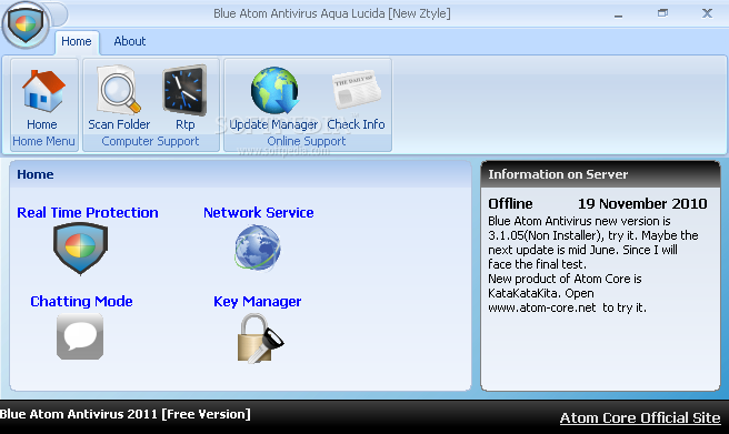 Blue Atom Antivirus 2010 Download