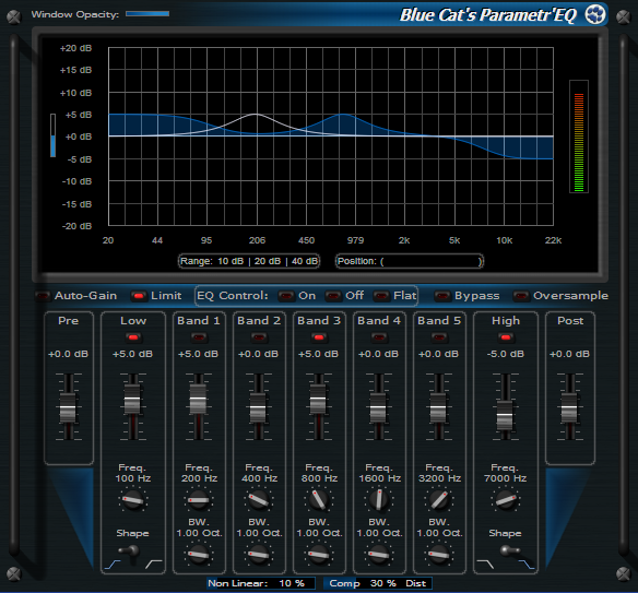 Blue Cat's Parametr'EQ for Mac OS X Download