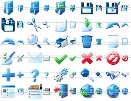 Blue Icon Library Download