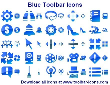 Blue Toolbar Icons Download