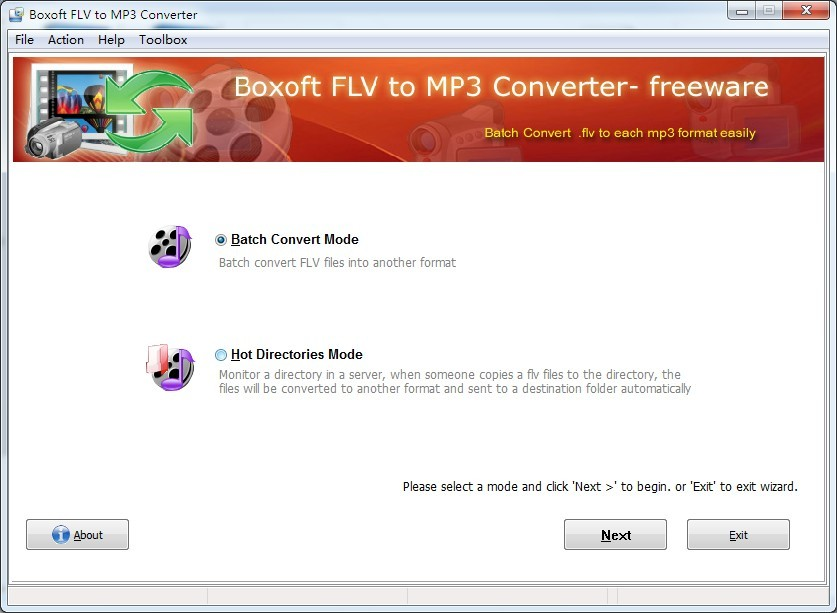 Boxoft free FLV to MP3 Converter (freeware) Download