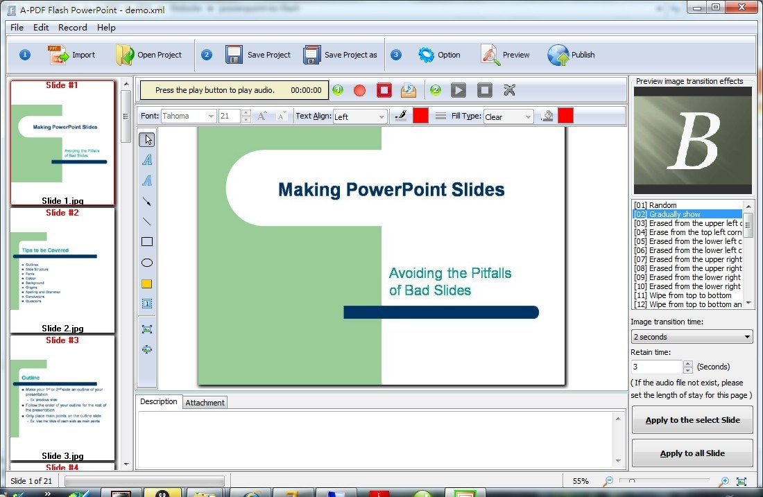Boxoft PowerPoint to Flash Download