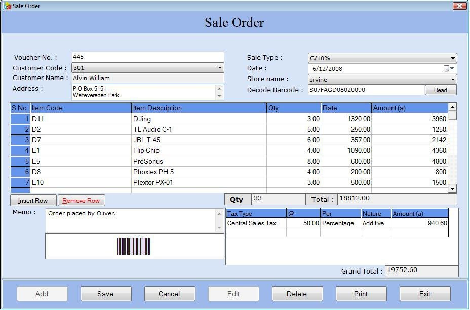 Business Billing Tool With Barcode Download