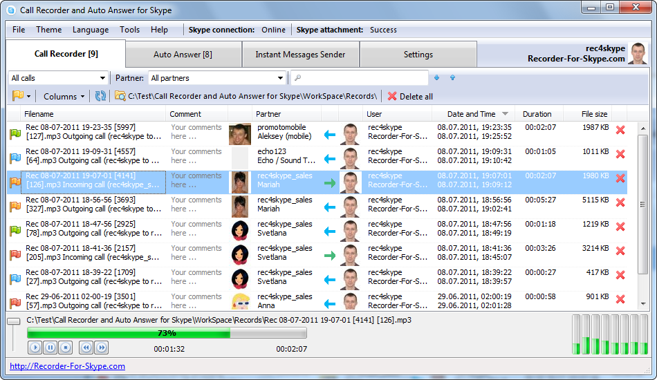Call Recorder and Auto Answer for Skype Download