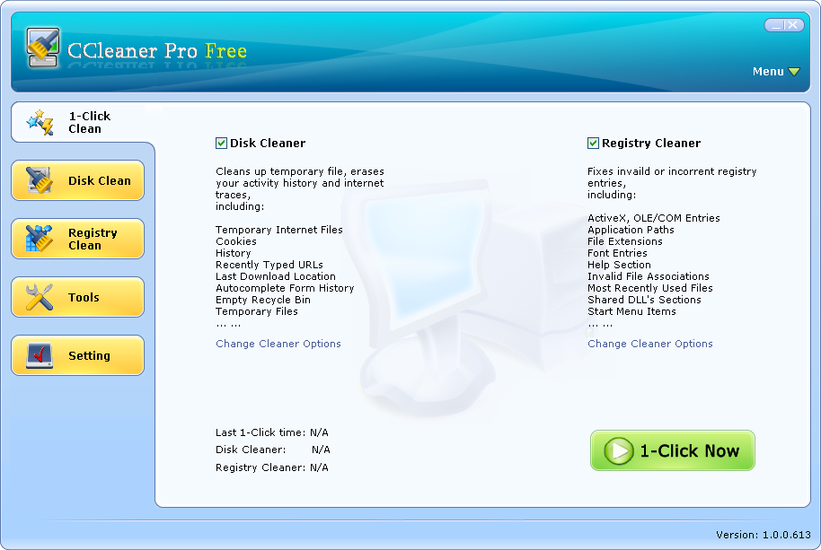 screenshot review downloads of freeware ccleaner pro free