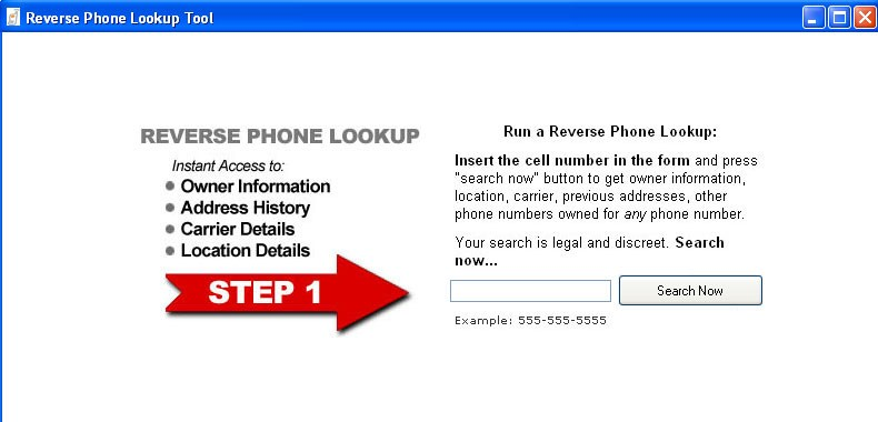 Cell phone reverse search  Download