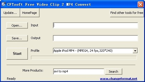 CFTsoft Free Video Clip 2 MP4 Convert Download