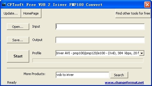 CFTsoft Free VOB 2 Iriver PMP100 Convert Download