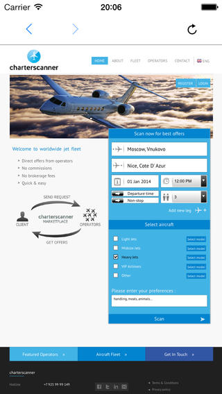 Charterscanner - Unique online private jet booking system Download