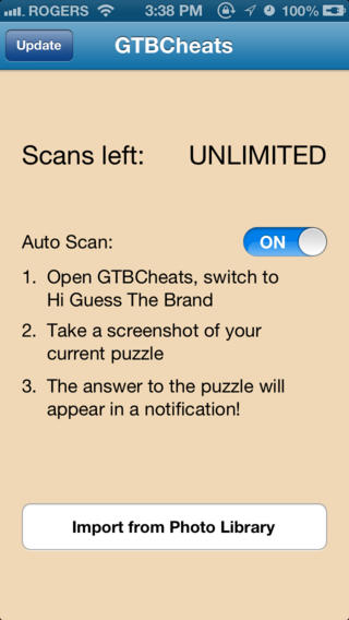 Cheats for Hi Guess The Brand - answers to all puzzles with Auto Scan cheat Download