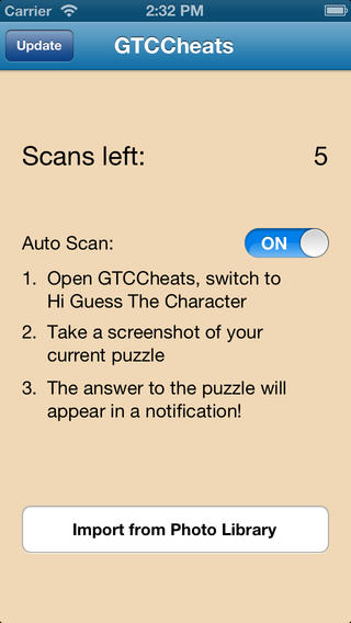 Cheats for Hi Guess The Character - answers to all puzzles with Auto Scan cheat Download
