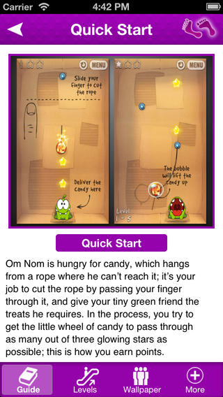 Cheats Guide for Cut The Rope - Complete Reference, Walkthrough, News Download