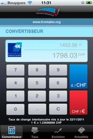 CHF - EUR Download
