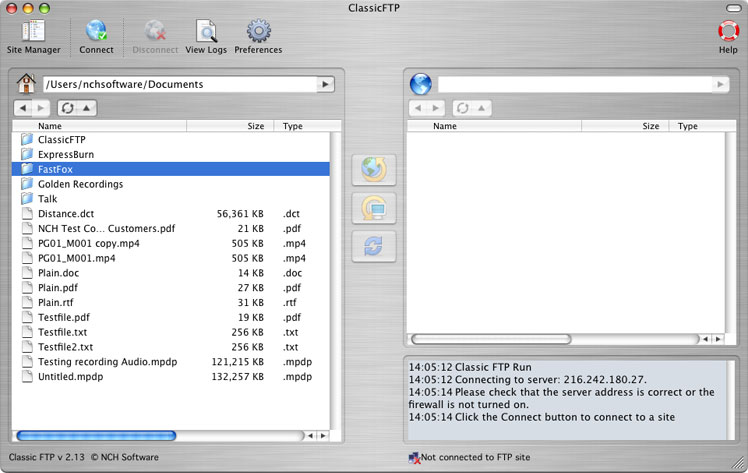 Classic FTP Free for Mac Download
