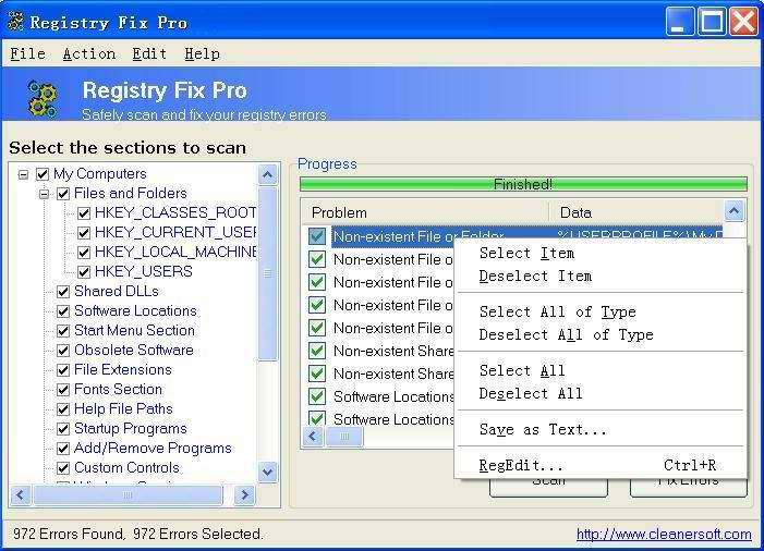 Free Registry Fix Download