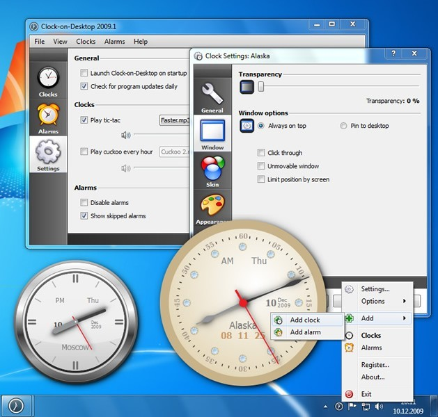 Clock-on-Desktop Download