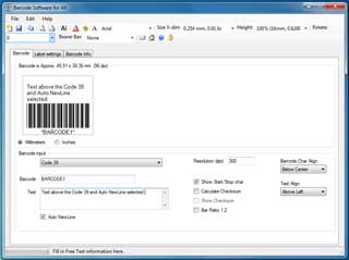 Code 39 barcode generator 2 Download